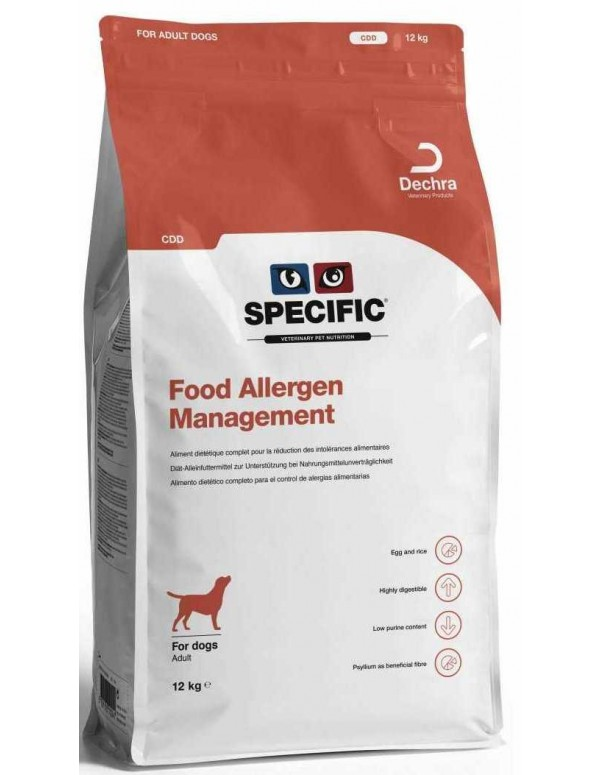Specific VD CDD Food Allergy Management 12 Kg Alimento Seco Cão