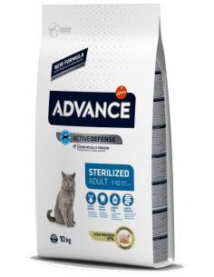Advance Adulto Sterilised Peru e Cevada Alimento Seco Gato