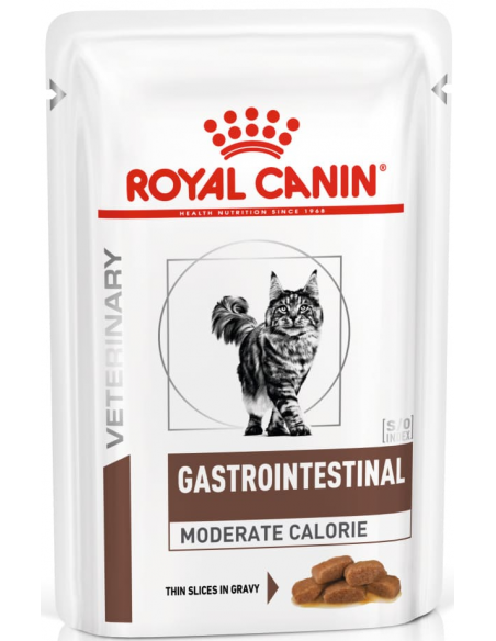 Royal Canin VD Gastrointestinal Moderate Calorie Alimento Húmido Gato