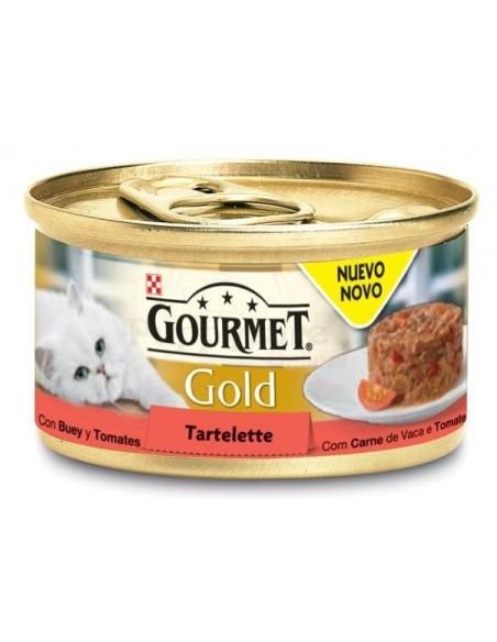 GOURMET Gold Tartelette Carne de Vaca com Tomate Alimento Humido Gato 85g