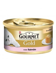 GOURMET Gold Soufflé Salmão Alimento Humido Gato 85g