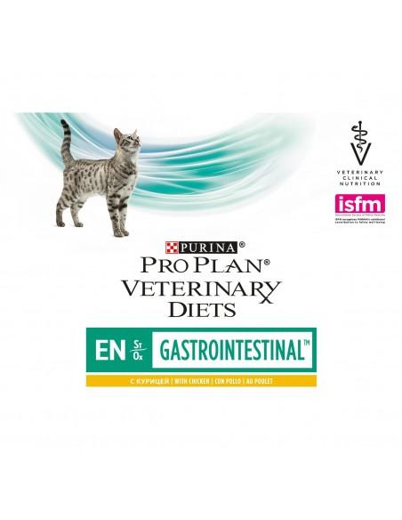 Pro Plan VD EN Gastrointestinal Frango Alimento Húmido Gato 10*85 Gr