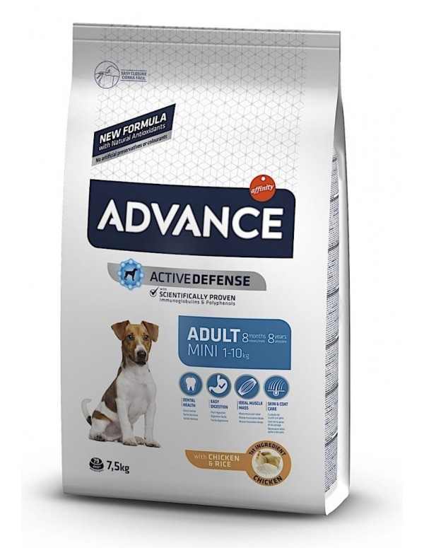 Advance Mini Adulto Alimento Seco Cão