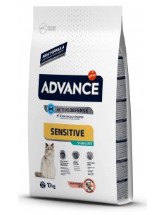 Advance Adulto Sterilised Salmão e Cevada Alimento Seco Gato