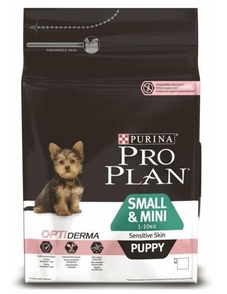 Pro Plan Puppy Small e Mini Sensitive  Skin Alimento Seco Cão