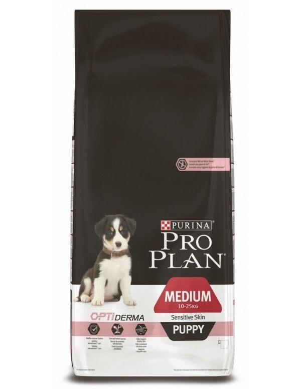 Pro Plan Puppy Medio Sensitive Skin Alimento Seco Cão