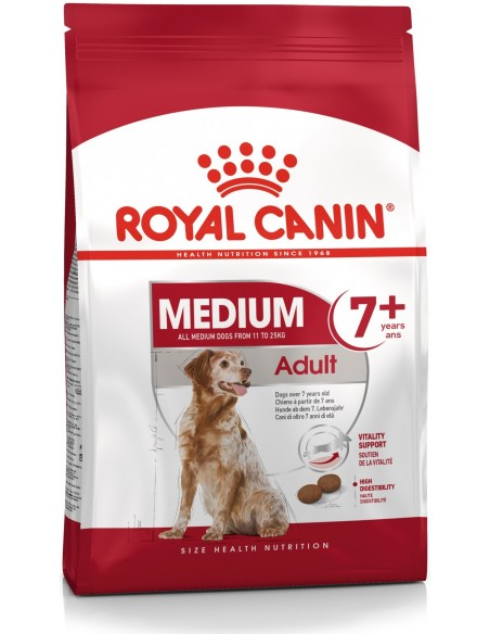 Royal Canin Size Health Nutrition Médium Adult 7+ Alimento Seco Cão