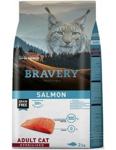 Bravery Adult Salmon Sterilised (Grain free) Alimento Seco Gato