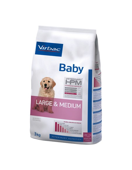 Virbac HPM Baby Dog Large & Medium Alimento Seco Cão