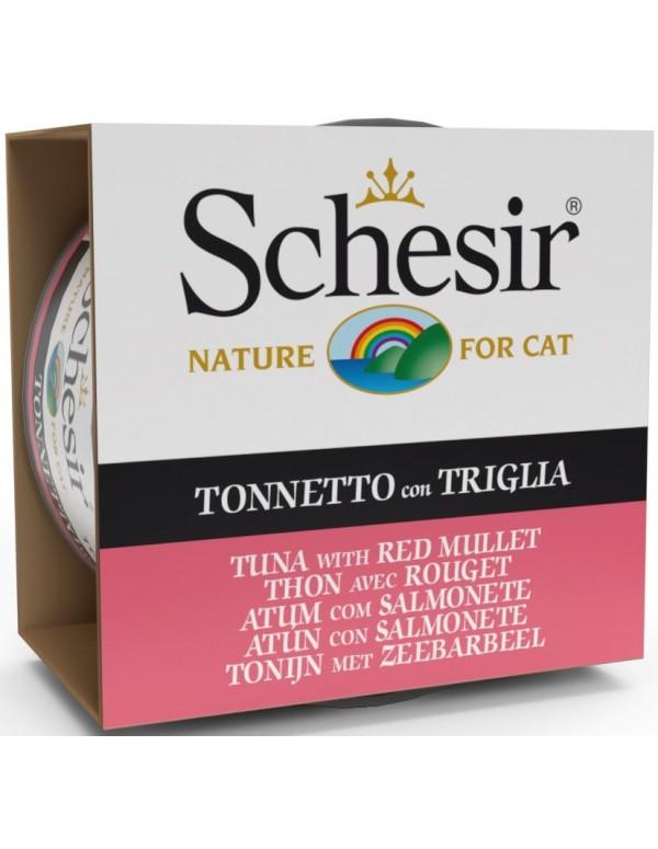Schesir Nature Atum com Salmonete Alimento Humido Gato